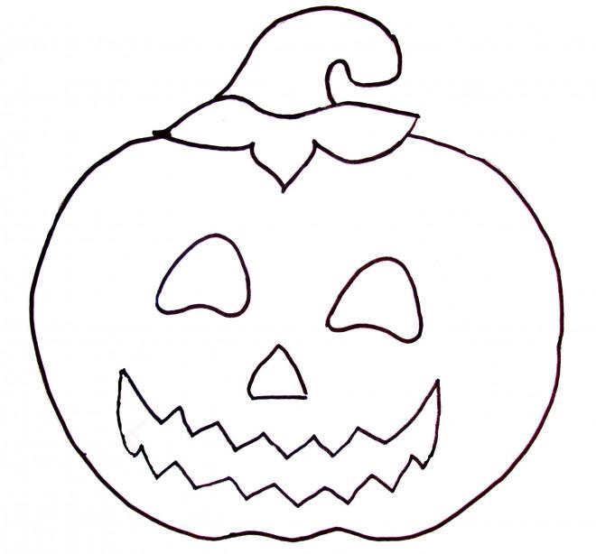 Coloriage citrouille d 39 halloween maternelle dessin gratuit - Chat facile et gratuit ...