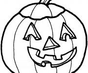 Coloriage et dessins gratuit Citrouille d'Halloween pour enfant à imprimer