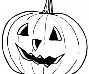 Coloriage Citrouille d'Halloween pour impression