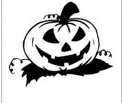 Coloriage Citrouille d'Halloween qui donne la frisson