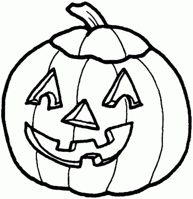 coloriage citrouille d 39 halloween qui fait peur dessin. Black Bedroom Furniture Sets. Home Design Ideas