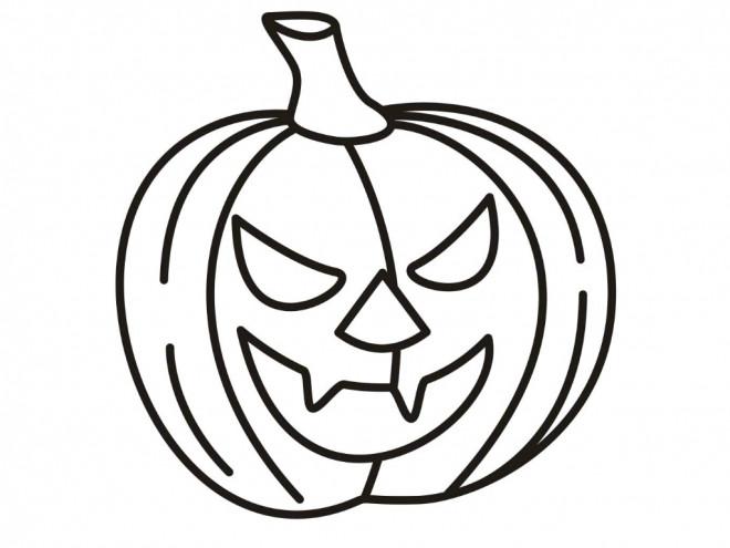 Coloriage Citrouille D Halloween Riant Dessin Gratuit A Imprimer