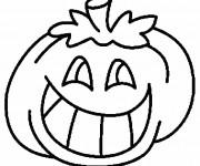 Coloriage Citrouille d'Halloween rigolote