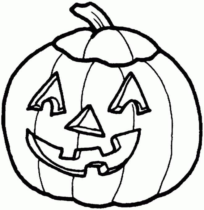 Coloriage et dessins gratuits Citrouille d'Halloween simple et facile à imprimer
