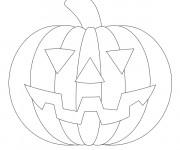 Coloriage et dessins gratuit Citrouille d'Halloween stylisé à imprimer