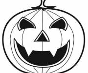 Coloriage Citrouille d'Halloween vampire