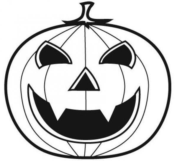 Coloriage et dessins gratuits Citrouille d'Halloween vampire à imprimer