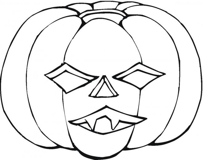 Coloriage et dessins gratuits Citrouille Dessin de Halloween à imprimer
