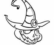 Coloriage Citrouille diabolique d'Halloween