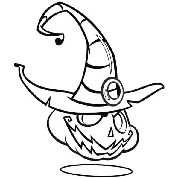 Coloriage et dessins gratuits Citrouille diabolique d'Halloween à imprimer