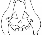 Coloriage Citrouille facile d'Halloween