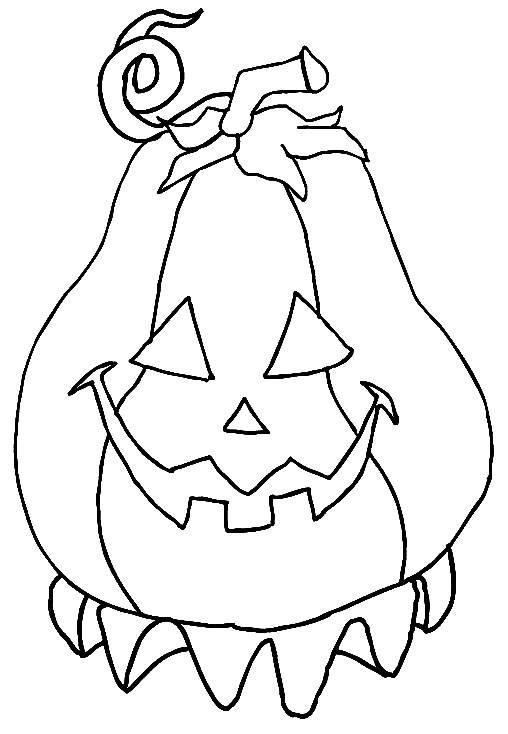 Coloriage et dessins gratuits Citrouille facile d'Halloween à imprimer