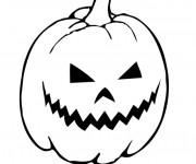 Coloriage Citrouille Halloween en papier