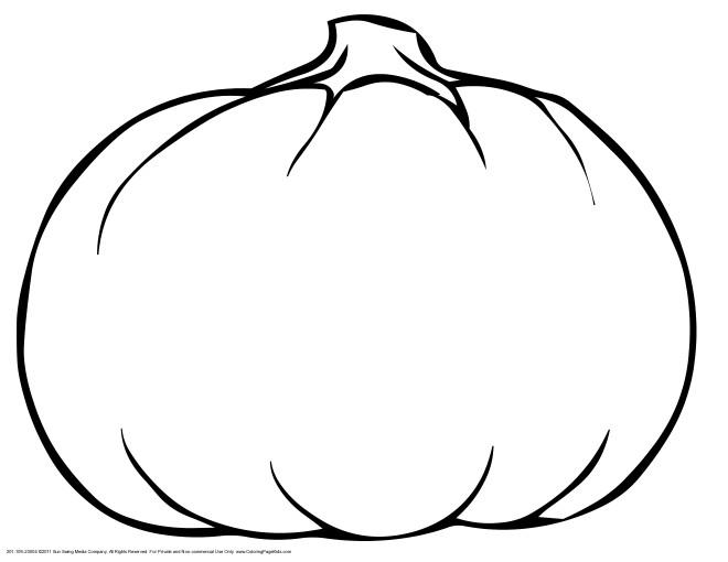 Coloriage et dessins gratuits Citrouille Légume Potager à imprimer