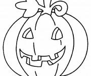 Coloriage Citrouille pour Halloween garde le sourire
