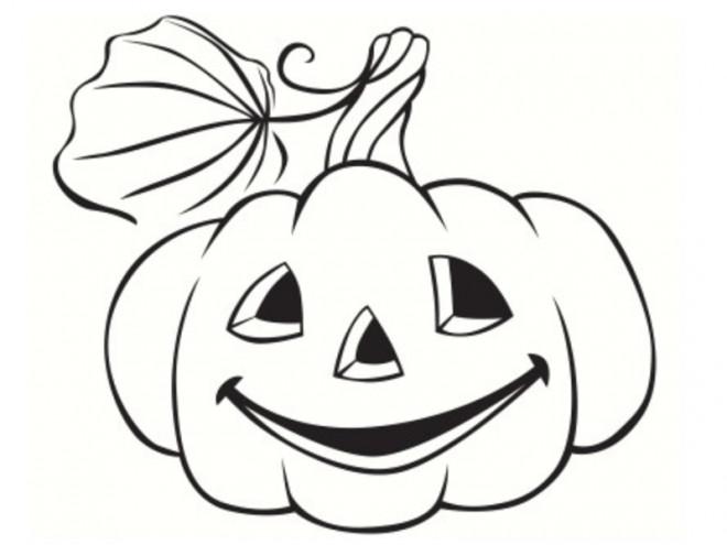 Coloriage et dessins gratuits Citrouille pour Halloween sur ordinateur à imprimer