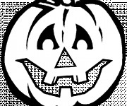 Coloriage et dessins gratuit Citrouille  pour Halloween vecteur à imprimer