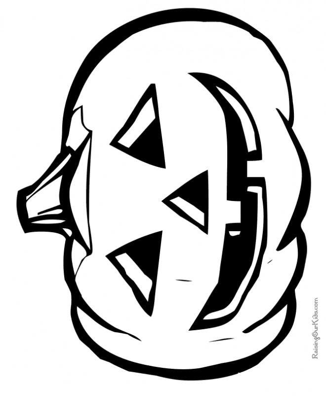 Coloriage et dessins gratuits Citrouille pour occasion de Halloween à imprimer