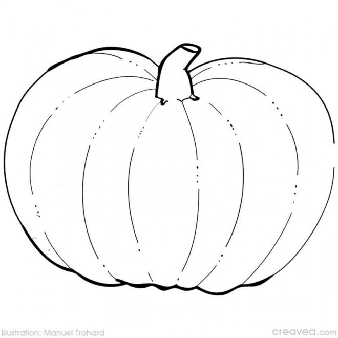 Coloriage et dessins gratuits Citrouille Simple couleur à imprimer