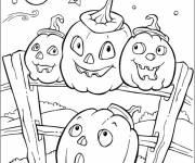 Coloriage Citrouilles d'Halloween