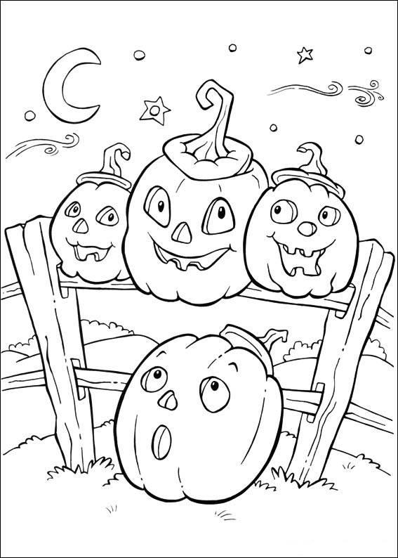 Coloriage et dessins gratuits Citrouilles d'Halloween à imprimer