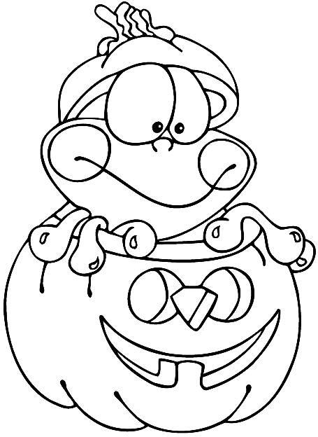 Coloriage et dessins gratuits Colorier les dessins de Citrouilles d'Halloween à imprimer