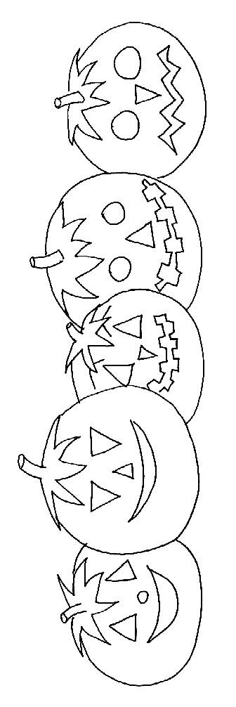 Coloriage Des Citrouilles de Halloween en couleur