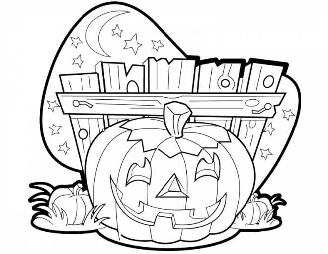 Coloriage et dessins gratuits Dessin citrouille d'Halloween à imprimer