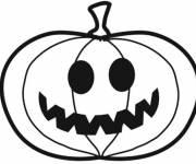 Coloriage Drôle de citrouille d'Halloween