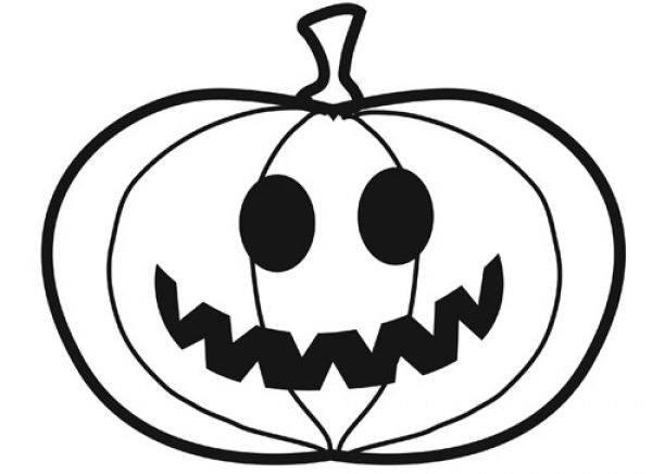 Coloriage et dessins gratuits Drôle de citrouille d'Halloween à imprimer