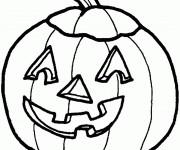 Coloriage dessin  Halloween Citrouille 11