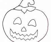 Coloriage dessin  Halloween Citrouille 13