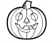 Coloriage dessin  Halloween Citrouille 3