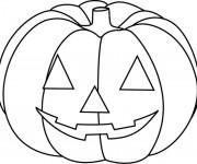 Coloriage dessin  Halloween Citrouille 5