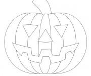 Coloriage dessin  Halloween Citrouille 7
