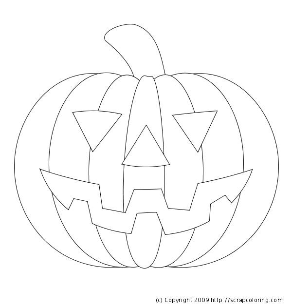 Coloriage halloween citrouille 7 dessin gratuit imprimer - Dessin facile d halloween ...