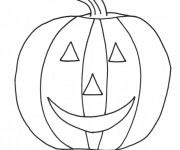 Coloriage dessin  Halloween Citrouille 8