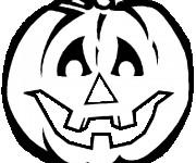 Coloriage dessin  Halloween Citrouille 9
