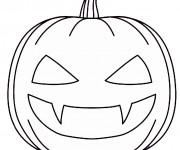 Coloriage Halloween Citrouille effrayante