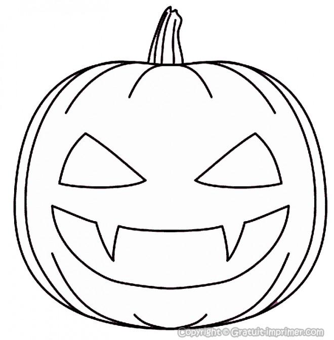 Coloriage halloween citrouille effrayante dessin gratuit - Citrouille effrayante ...