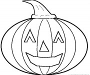 Coloriage Halloween Citrouille en Ligne