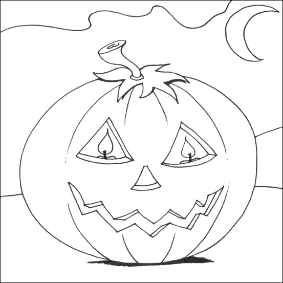 Coloriage et dessins gratuits Halloween Citrouille lumineuse à imprimer