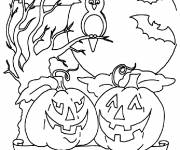 Coloriage Halloween citrouille octobre