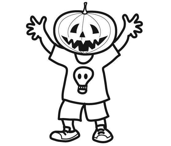 Coloriage et dessins gratuits Masque de citrouille d'Halloween à imprimer