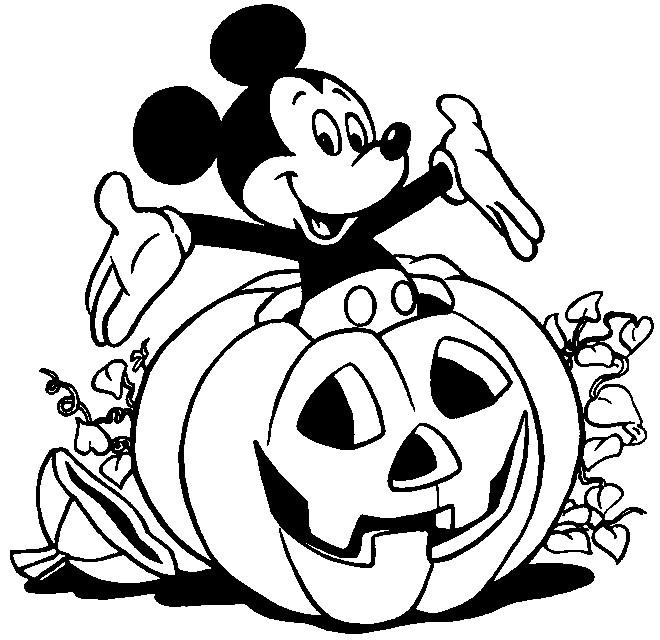 Coloriage Mickey Mouse A Imprimer Gratuit.Coloriage Mickey Mouse Dans La Citrouille D Halloween