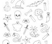 Coloriage et dessins gratuit Halloween dessin à imprimer