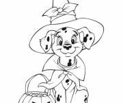 Coloriage et dessins gratuit 101 Dalmatiens Halloween à imprimer