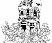 Coloriage Disney Halloween les sept nains