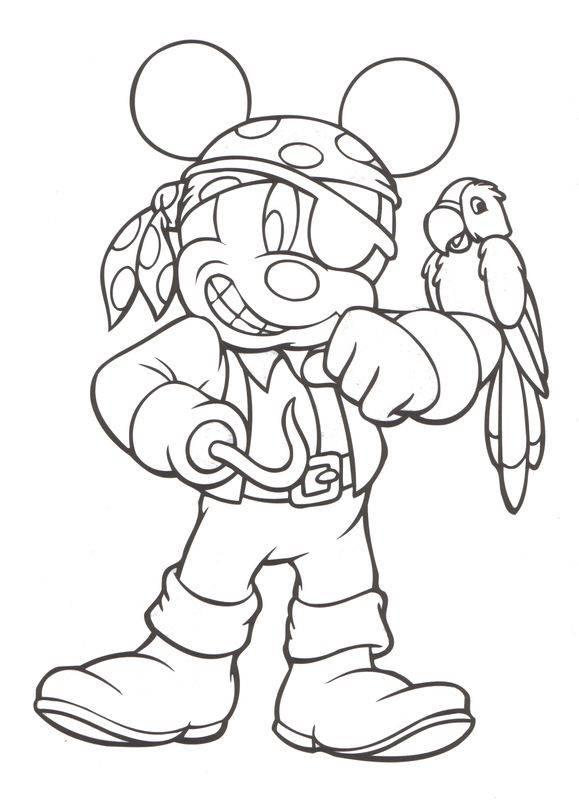 Coloriage et dessins gratuits Pirates des Caraïbes - Mickey Mouse Disney à imprimer