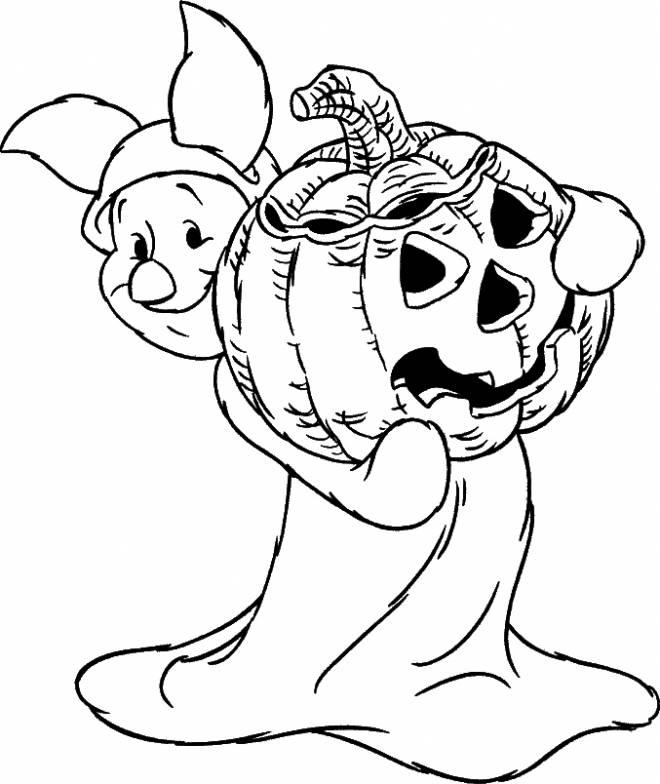 Coloriage et dessins gratuits Porcinet Disney déguisé pour l'Halloween à imprimer